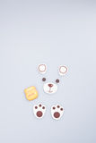 Cake decoration or homemade bear cake decoration on a backgrou Royalty Free Stock Photography