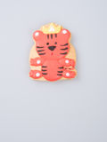 Cake decoration or homemade lion cake decoration on a backgrou Stock Image