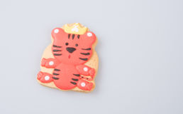 Cake decoration or homemade lion cake decoration on a backgrou Stock Images