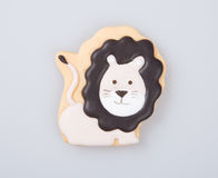 Cake decoration or homemade lion cake decoration on a backgrou Stock Photography