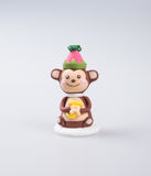 Cake decoration or homemade monkey cake decoration on a backgr Royalty Free Stock Photography