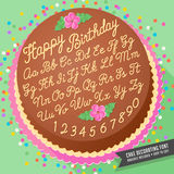 Cake decorator icing font Stock Images