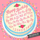 Cake decorator icing font Royalty Free Stock Photography