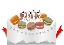 Cake design of 2012 calendar. Abstract cake design of 2012 calendar royalty free illustration