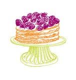 Cake design element. shabby food image. Royalty Free Stock Photos