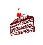 Cake design element. shabby food image. Stock Photo