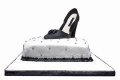 Cake Design Marsmallow Shoe Woman Isolated Stock Photography