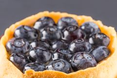 Cake a dessert with bilberry Royalty Free Stock Photos