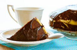 Cake dessert brownie cocoa sweet coffee cup Stock Image
