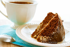 Cake dessert brownie cocoa sweet coffee cup Stock Photos