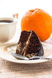 Cake dessert brownie cocoa sweet coffee cup Royalty Free Stock Images