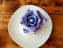 Dessert cake fondant. Cake dessert fondant flower sweet stock photos