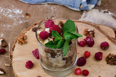 Cake dessert in a glass Royalty Free Stock Photography