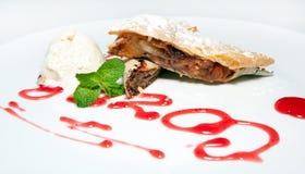 Cake, dessert, mousse, cakes, buffet, ice cream, Royalty Free Stock Image