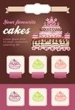 Cake dessert template Stock Image