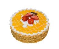 Cake die op Wit wordt geïsoleerd Stock Afbeelding