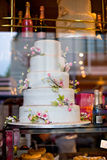 Cake on display in London Stock Photo