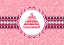 Cake on the doily. Royalty Free Stock Photography
