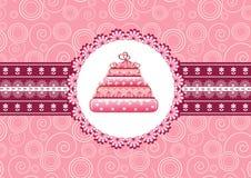 Cake on the doily. Vector illustration vector illustration