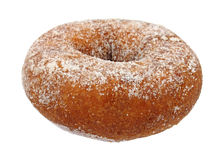 Cake doughnut. Single sugared cake doughnut on a white background stock photo