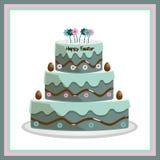 cake easter Royaltyfri Bild