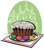 cake easter vektor illustrationer