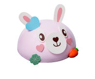 Cake or easter bunny cake on a background. Royalty Free Stock Photography