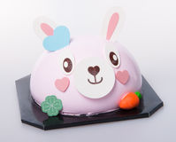 Cake or easter bunny cake on a background. Royalty Free Stock Photo