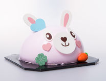 Cake or easter bunny cake on a background. Royalty Free Stock Images