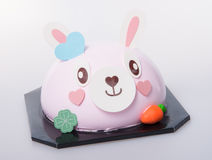 Cake or easter bunny cake on a background. Royalty Free Stock Image
