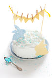 Cake for Easter. Easter cake decorated with cut-outs Royalty Free Stock Image