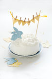 Cake for Easter. Easter cake decorated with cut-outs Stock Photography