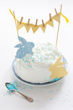 Cake for Easter. Easter cake decorated with cut-outs Stock Image