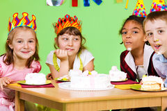 Cake eating contest Royalty Free Stock Photos