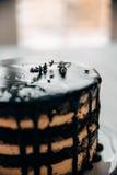 Cake in een snoepwinkel Stock Afbeelding