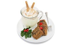 Cake & Eggnog Clipping Path Stock Image