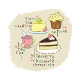 Cake elements design Royalty Free Stock Photos