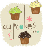 Cake elements design Stock Images
