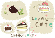 Cake elements design Royalty Free Stock Photo