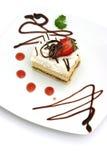 Cake en Aardbei Royalty-vrije Stock Afbeeldingen
