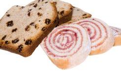 Cake en broodje royalty-vrije stock fotografie