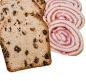 Cake en broodje stock fotografie