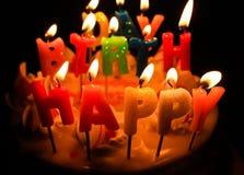Cake en candel Stock Foto