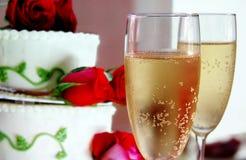 Cake en champagne Stock Foto's