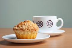 Cake en de koffie Royalty-vrije Stock Foto's