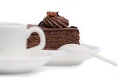 Cake en een kop Royalty-vrije Stock Foto