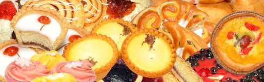 Cake en Gebakjeassortiment royalty-vrije stock fotografie