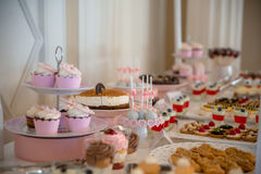 Cake en gebakjes Stock Afbeelding