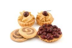 Cake en koekjesdecoratie Stock Foto