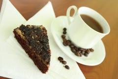 Cake en koffie Stock Foto's